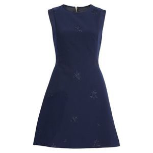 Ted Baker Navy Saahrad Embroidered Floral Dress